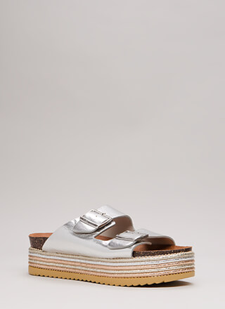 Stacked Up Platform Slide Sandals