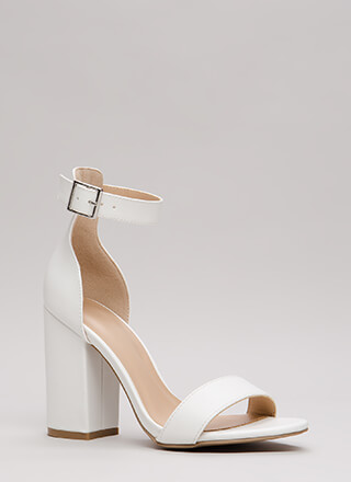 Keep It Simple Chunky Ankle Strap Heels
