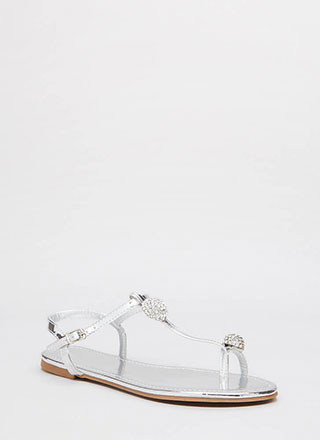 Twinkle Toe Jeweled Metallic Sandals