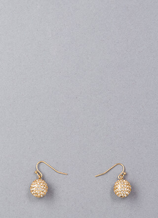 Gather Round Jeweled Ball Charm Earrings