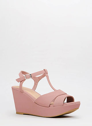 Day Off Faux Nubuck Platform Wedges