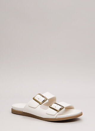 Go-Anywhere Buckled Slide Sandals