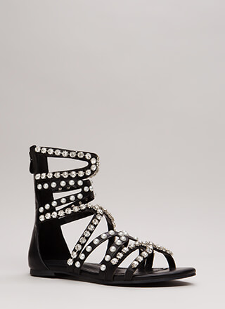 Precious Pearl Jeweled Gladiator Sandals