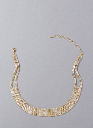 Necks Level Sparkle Faux Diamond Choker