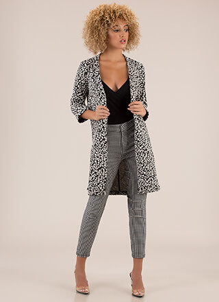 Abstract Ideas Spotted Blazer Coat