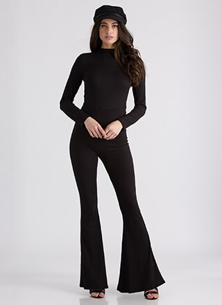 Flare For Drama Bell-Bottom Jumpsuit