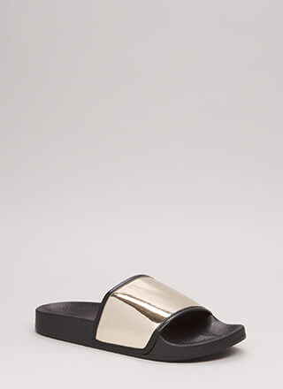My Time To Shine Platform Slide Sandals