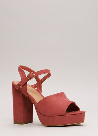 Get Thick Chunky Faux Suede Platforms