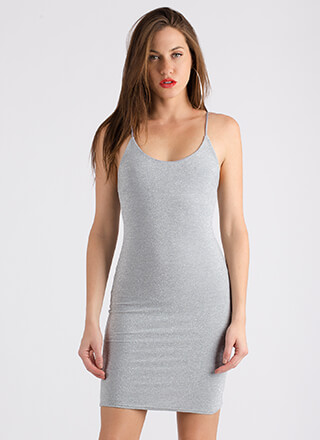 Go For The Glitter Sparkly Tank Dress