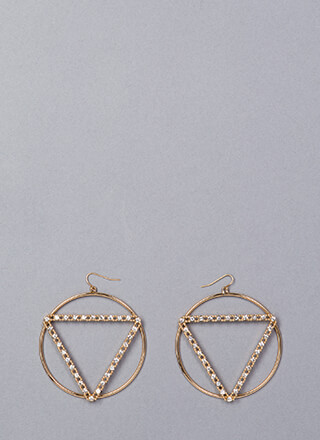 Shape Of You Jeweled Geometric Earrings