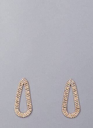 My Teardrops Rhinestone Earrings