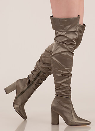 Pad Your Stats Slouchy Thigh-High Boots