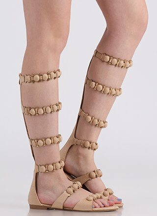 My Bubble Faux Suede Gladiator Sandals
