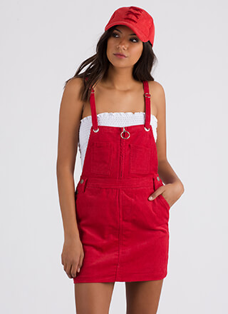 Play Date Corduroy Overall Dress