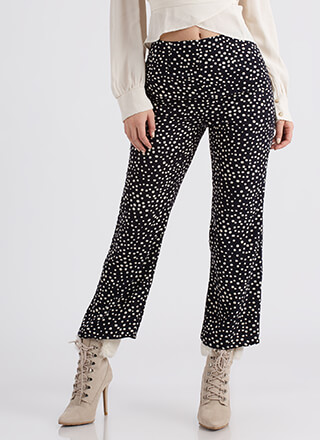 Hits The Spot Polka Dot Print Pants