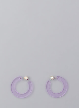 Retro Party Banded Hoop Earrings