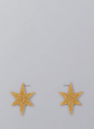 Ka-Boom Glittery Star Earrings