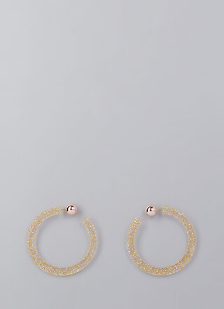 Back A Round Partial Hoop Earrings