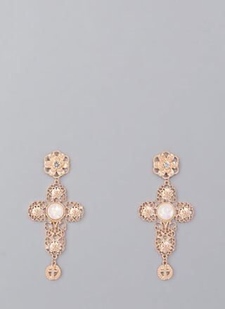Make A Statement Cut-Out Cross Earrings