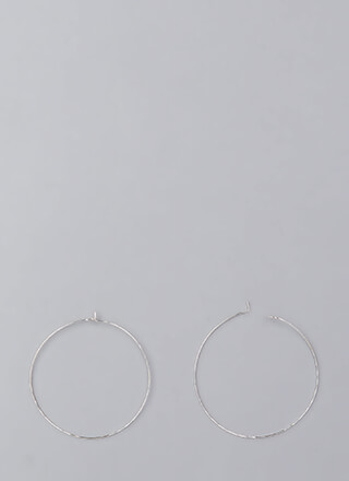 Down To The Wire Thin Hoop Earrings