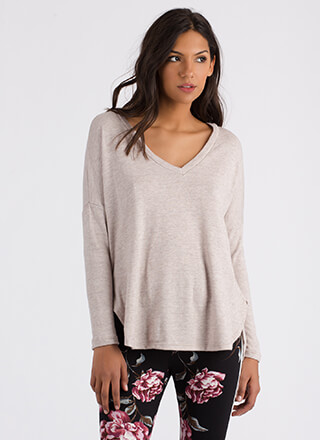 Stay Warm Long-Sleeved High-Low Top