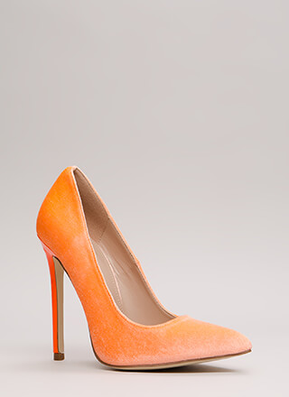 Get There Fast Pointy Velvet Pumps