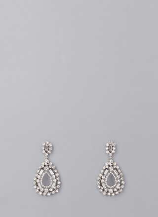 Drop A Hint Faux Diamond Earrings