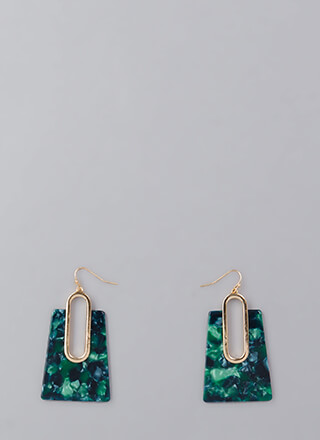 Hear Me Out Marbled Cut-Out Earrings