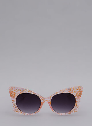 Butterfly Effect Glittery Sunglasses