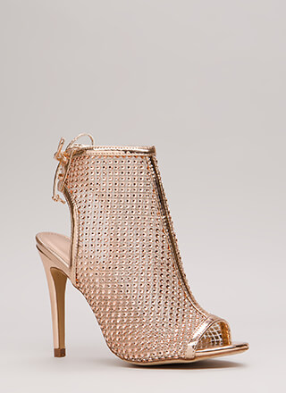 Nonstop Sparkle Jeweled Cut-Out Heels
