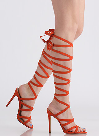 I'm A Wrap Superstar Lace-Up Heels