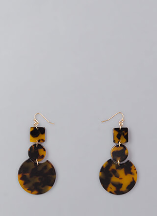 Learn Your Shapes Marbled Earrings