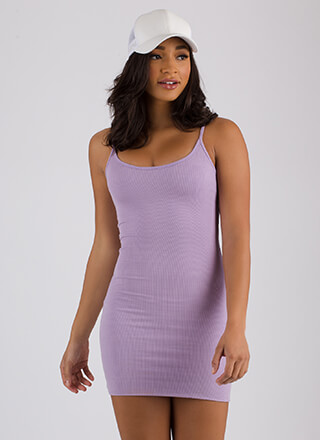 The Simple Answer Ribbed Scoop Dress