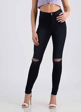 Knee To Success High-Waisted Jeans