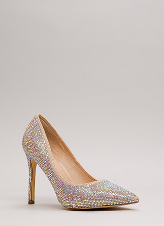So Much Sparkle Pointy Jeweled Pumps