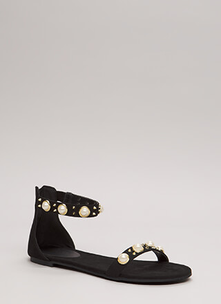 Embellish The Story Faux Pearl Sandals