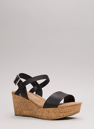 Put A Cork In It Platform Wedges