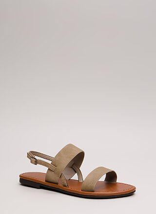 Weekend Flow Faux Nubuck Sandals