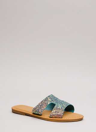 Fun Day Out Glittery Slide Sandals