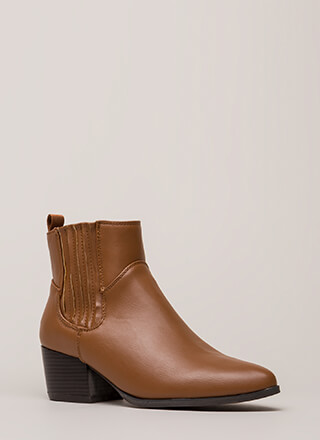 Side By Side Chunky Block Booties