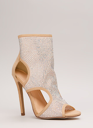 Jewel Coverage Cut-Out Rhinestone Heels