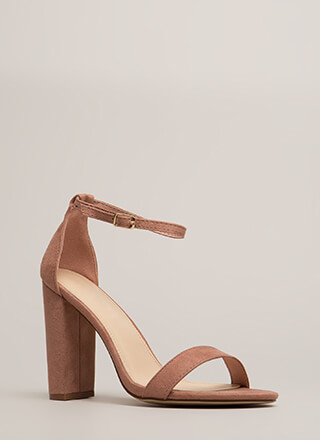 Must-Have Chunky Ankle Strap Heels