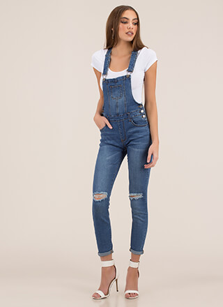 Weak In The Knees Denim Overalls