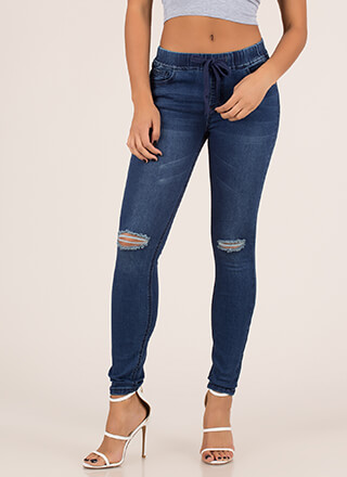 Luck Of The Drawstring Skinny Jeans