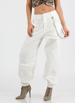 New Rules Baggy Chained Khaki Pants