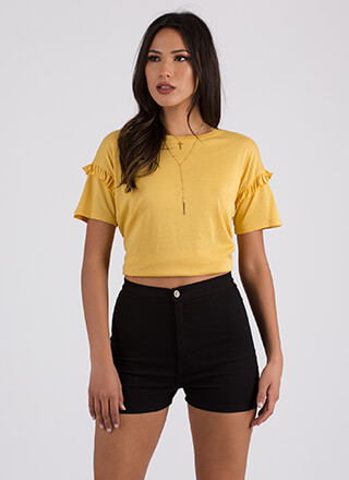 The Little Things Ruffled Sleeve Top