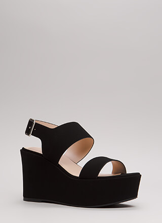 Wide Range Chunky Platform Wedges