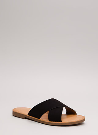 Gen X Vegan Suede Slide Sandals