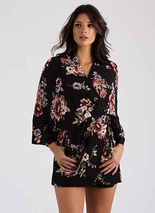 Wrapped In Mystery Floral Kimono