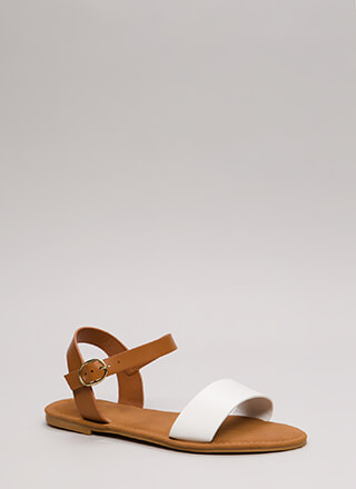 Just Coasting Faux Leather Sandals